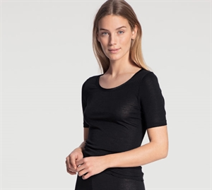 Calida True Confidence T-Shirt Uld/ Silke Sort
