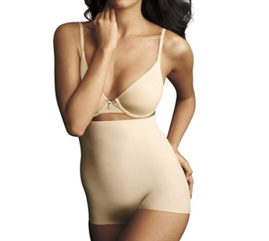 Maidenform Sleek Smoothimg Hi-Waist Boyshort Nude