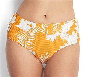 Seafolly Wild Tropics Bikini Trusse Wide Side Retro Saffron