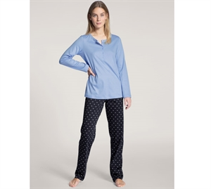 Calida Night Lovers Pyjamas Light & Dark Blue