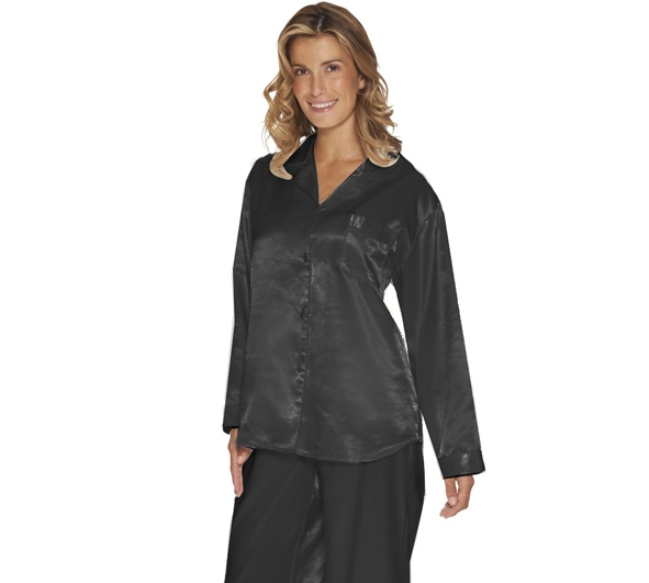 Lady Avenue Satin Pyjamas Sort