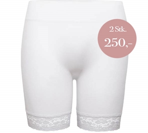 Decoy Seamless Hotpants m/ Blonde Hvid