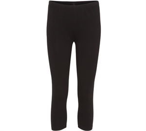 Decoy Viskose Capri Leggings Jersey Sort