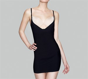 Decoy Shapewear dress Sort- Stram Ind Kjole