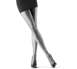 Oroblu Adelle Polka Dot Tights Black 20 den.