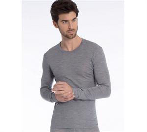 46b60801 Calida Herre Uld & Silke T-shirt LS Platin Mele