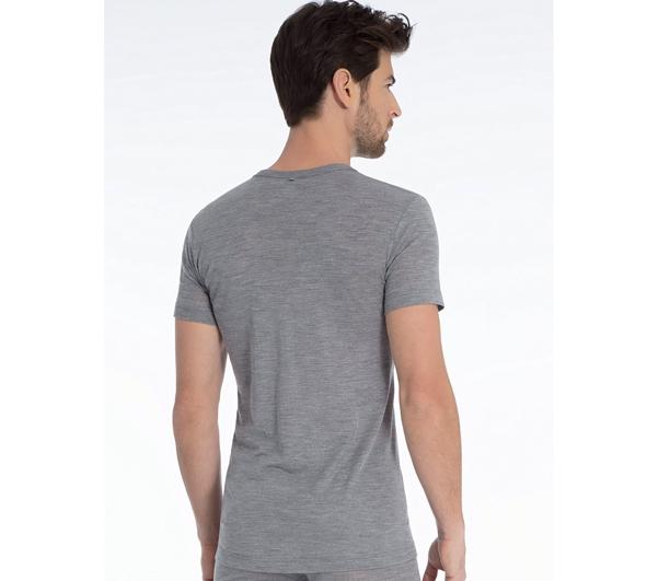 Calida Herre Uld & Silke T shirt Platin Mele