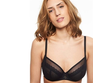 Chantelle Parisian Allure Plunge Bh Sort