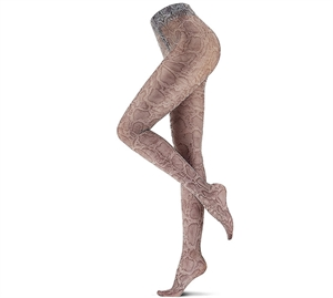 Oroblu Abstract Tights/ Strømpebukser Grey & Snake Print